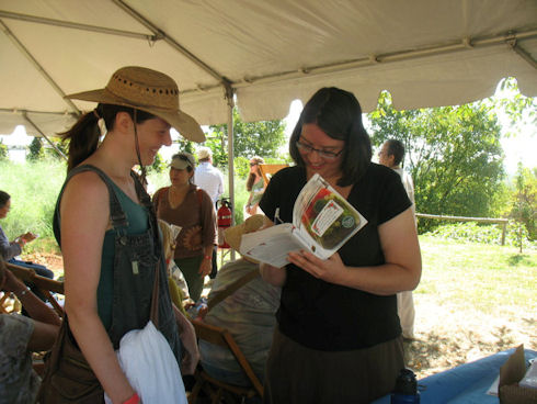 Sharon Astyk at Heritage Harvest Festival, Monticello. Photo by Mary Delicate